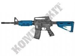 GE-1601 BB Gun SR4 ST Alpha M4A1 Replica AEG Electric Airsoft Rifle 2 Tone Blue Black